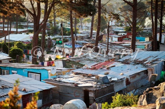 Informal Settlement on the Cape Peninsula, Cape Town, South Africa