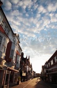 West Street at Sunset, Horsham, West Sussex, England