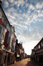 West Street at Sunset, Horsham, West Sussex, England