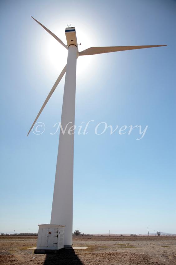 Wind turbine near Malmesbury, Western Cape, South Africa