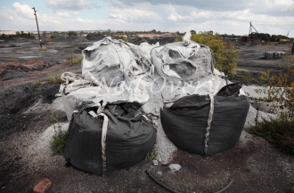 Hazardous waste products abandoned nr. Witbank, Mpumalanga, South Africa - such waste often contains highly toxic heavy metals and poses serious health and environmental risks.