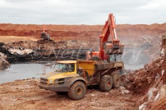 Opencast Coal mining near Witbank (eMalahleni), Mpumalanga, South Africa