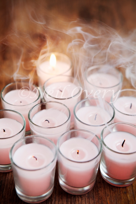 Candles being blown out