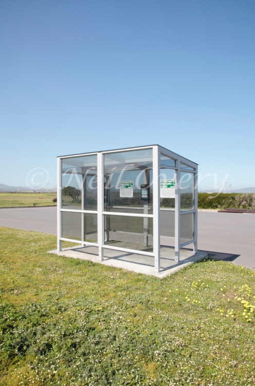 Shelter for smokers who cannot smoke inside buildings, nr Cape Town, South Africa