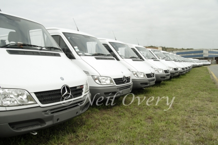New Mercedes Vans from the Mercedes Factory in East London, South Africa