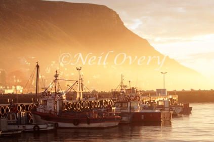 Fishing Boats at Dawn, Kalk Bay, South Africa