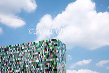'Casa Confetti' student accommodation building at De Uithof, University of Utrecht, Netherlands